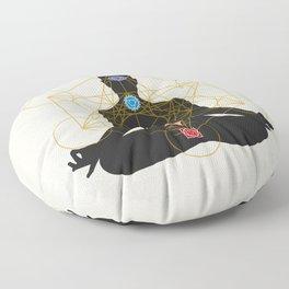 Sacred Geometry Metatron's Cube Chakra Meditation Floor Pillow