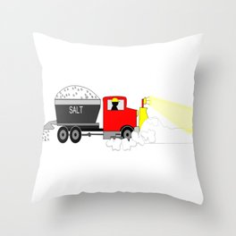 Winter Keeping Up With the Status Snow Throw Pillow