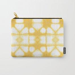 Shibori Ahi Yellow Carry-All Pouch