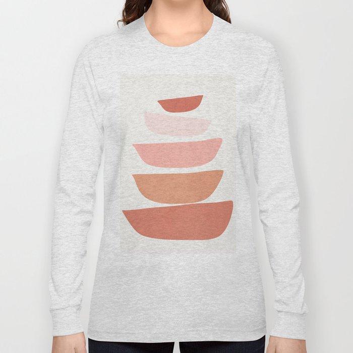 Abstract Minimal Shapes IV Long Sleeve T-shirt