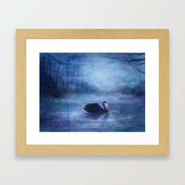 As The Swan In The Evening Framed Art Print