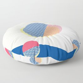 Japanese Patterns 01v Floor Pillow