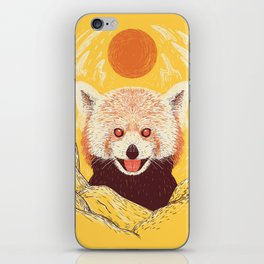 Red Panda on a Sunny Day iPhone Skin
