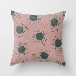 RANDOM ABSTRACT PATTERN PINK Throw Pillow