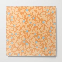 Evening blueberry hunt / Peach pattern Metal Print