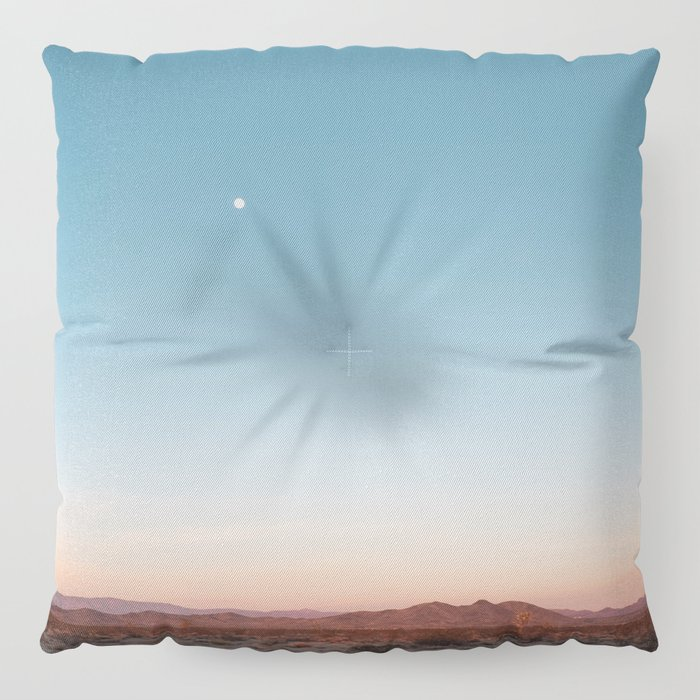 Desert Sky with Harvest Moon Floor Pillow by losadventures | Society6