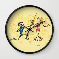 lovers Wall Clocks featuring Lovers by Giuseppe Lentini