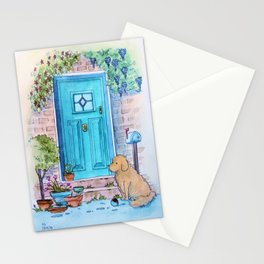 Waiting at the door Stationery Cards