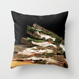Sandwich say cheese Throw Pillow
