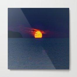 Moonlight on the Ocean Metal Print