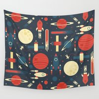 stickers Wall Tapestries featuring Space Odyssey by Tracie Andrews
