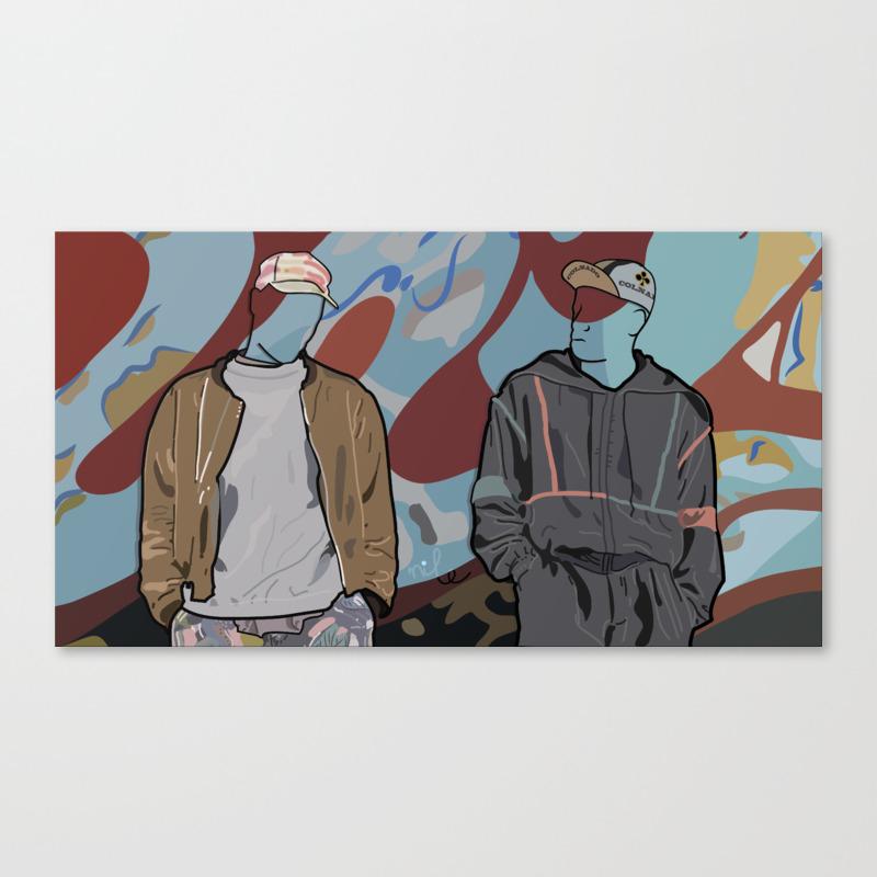 White Men Can't Jump Canvas Art by Rhumero CNV2682842