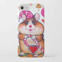 hamster iPhone & iPod Cases featuring HAMSTER by oxana zaika