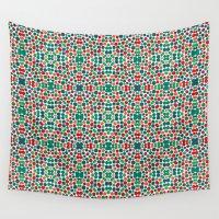 batik Wall Tapestries featuring Christmas Batik by Kaleidoscope Patterns!