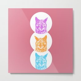 Scrappy the Cat Metal Print