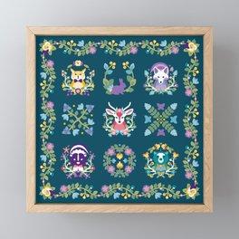 Baltimore Woods Quilt Framed Mini Art Print