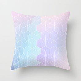 Geometric pastel vibes pattern 1 #pattern #decor #abstractart Throw Pillow