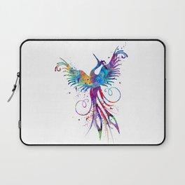 Phoenix Watercolor Print Nursery Art Gift for Her Bird Art Laptop Sleeve
