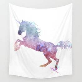 Paint Watercolor Unicorn Wall Tapestry