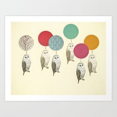 Balloon Landing Art Print