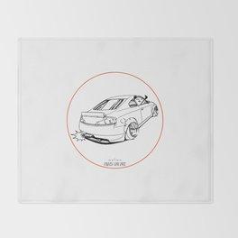 Crazy Car Art 0221 Throw Blanket