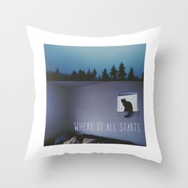 You Float Across The Room (Where It All Starts) Throw Pillow