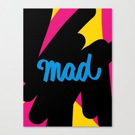 Mad Blue  Canvas Print