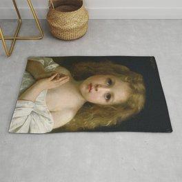 "William-Adolphe Bouguereau ""Little Girl"" Rug"