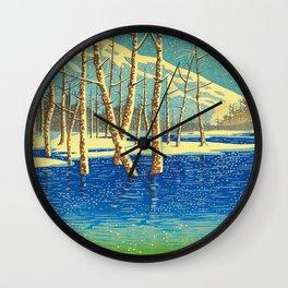 Kawase Hasui Vintage Japanese Woodblock Print Wall Clock