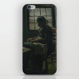 Woman Sewing iPhone Skin