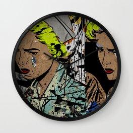 Nurse Pop/Street Art Collage Wall Clock