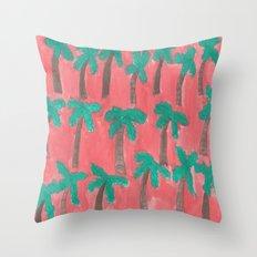 Dreamy Palm Trees Throw Pillow