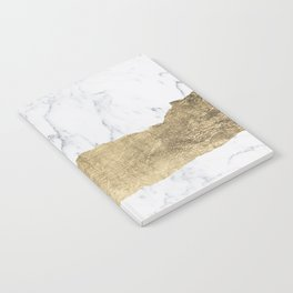 Elegant faux gold foil gray white modern marble Notebook