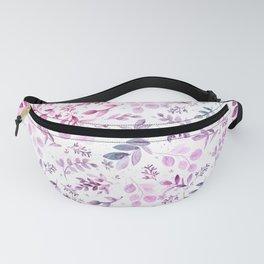 Modern pink lavender teal watercolor botanical floral Fanny Pack