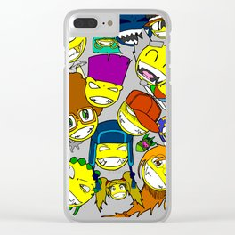 All Smilez Clear iPhone Case