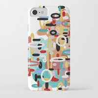 mid century iPhone & iPod Cases featuring Mid Century One by Tina Carroll