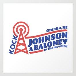 Johnson & Baloney Art Print