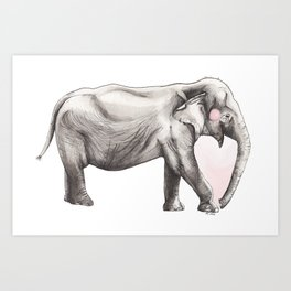 Elephant Love Art Print