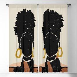 Black Hair No. 14 Blackout Curtain