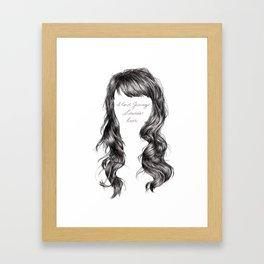 Jenny Lewis's Hair Framed Art Print