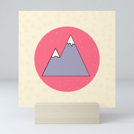 Snowy Mountain Mini Art Print