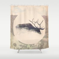 elk Shower Curtains featuring Elk by hipepper