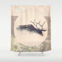 elk Shower Curtains featuring Elk by hipepper