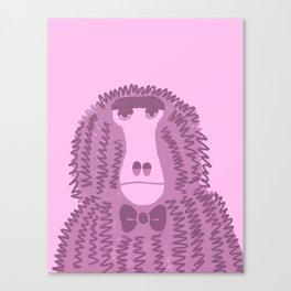 Unhappy Baboon Canvas Print
