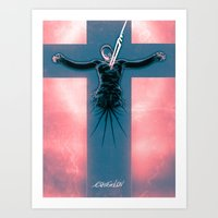evangelion Art Prints featuring Lilth from Evangelion by Barrett Biggers