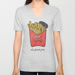 French Fries Unisex V-Neck