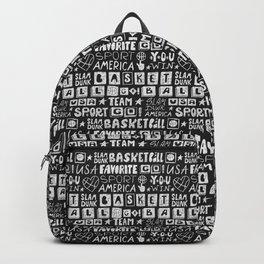Sketch basketball. Pattern. Backpack