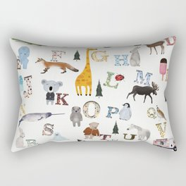 little nature alphabet Rectangular Pillow