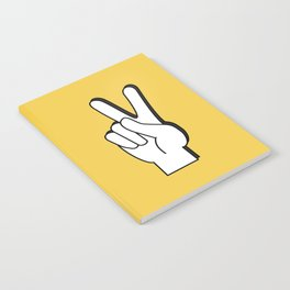 Peace Sign yellow Notebook
