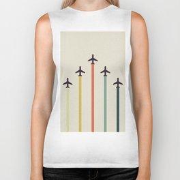 Airplanes Biker Tank